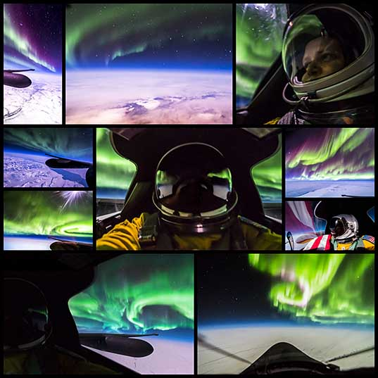 Northern Lights Photos Taken from a U-2 Airplane Traveling at 70,000 Feet