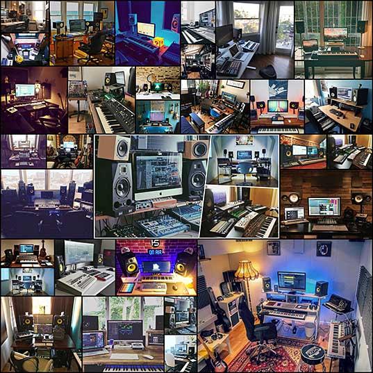 30 фотографий крутых домашних студий, о которых мечтали все начинающие музыканты