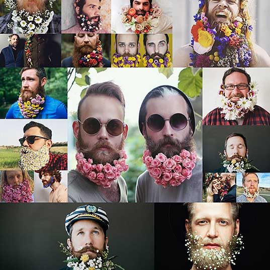 18 Men Are Decorating Their Beards With Flowers For Spring