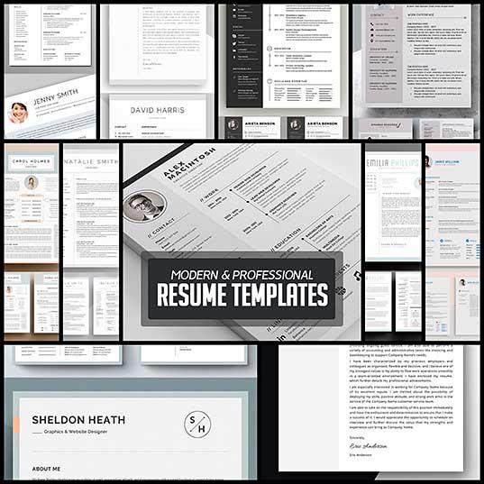 Modern & Professional Resume CV Template Inspiration Design Blog