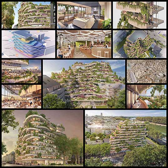 Stunning Vertical Forest Concept by Vincent Callebaut for Anders, France