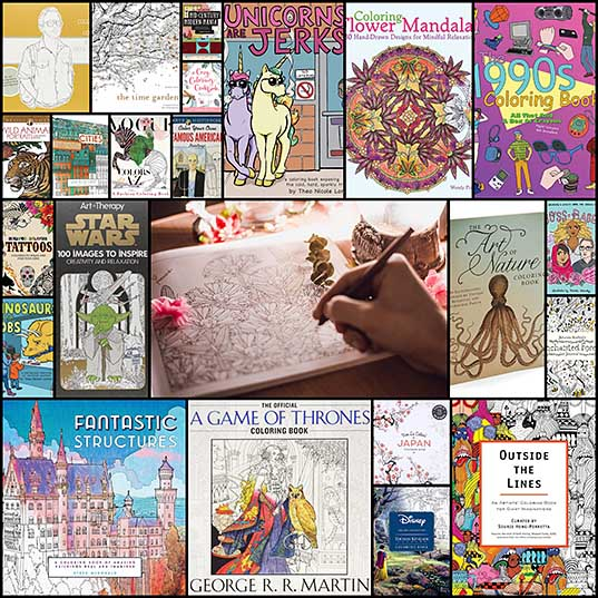 20+ Adult Coloring Books That Can Help You Combat Stress