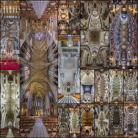 Вертикальные панорамы парижских соборов в объективе Ричарда Силвера