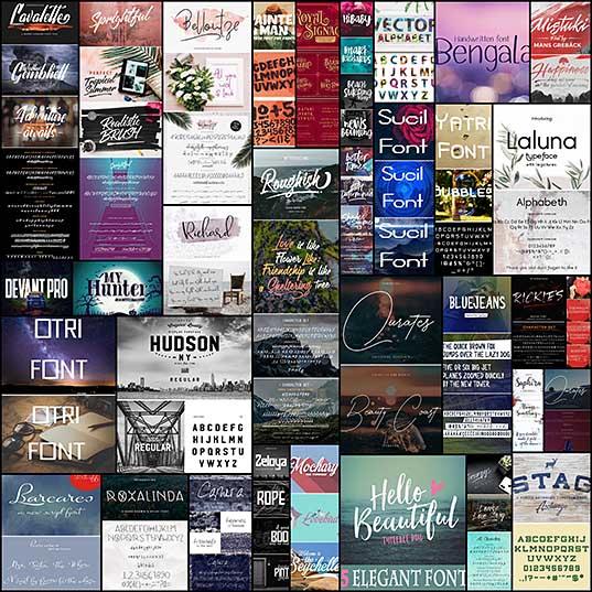 30 Elegant & Creative Fonts For Modern Design Fonts Design Blog