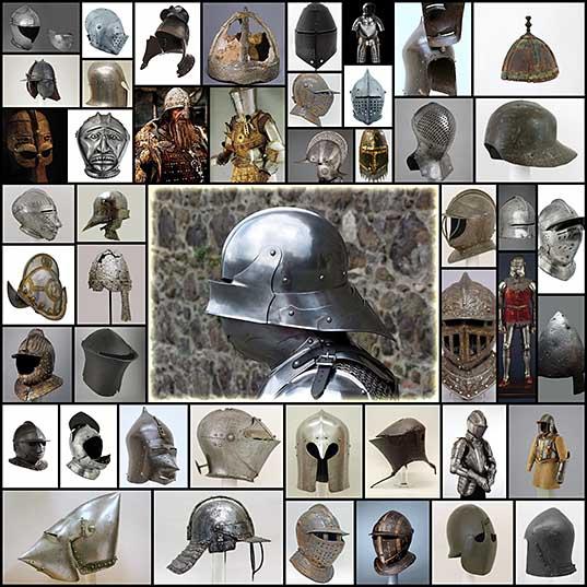 История боевых шлемов в Западной Европе от раннего средневековья до раннего Нового времени