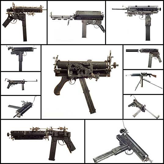 Sculptural Guns Made from Typewriters Because Words are Mightier «TwistedSifter