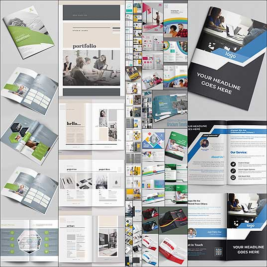 Collection of Latest & Creative Multi-purpose Brochure Templates Design Graphics Design Design Blog1