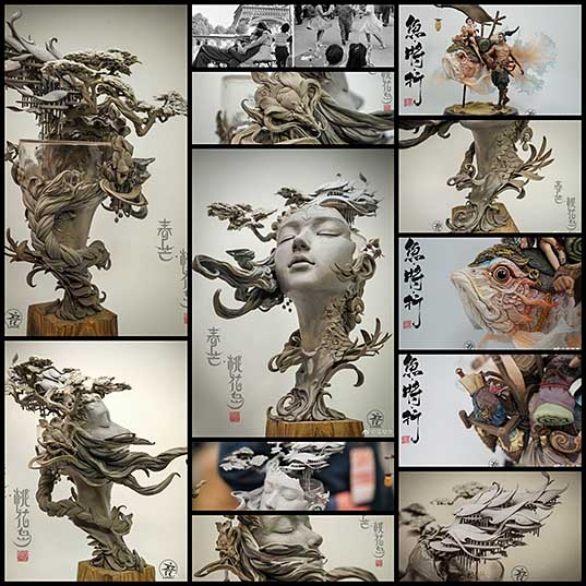 Surreal Bust Sculpture is 360 Degrees of Awe-Inspiring Detail
