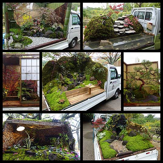 The Japanese Mini Truck Garden Contest is a Whole New Genre in Landscaping Colossal
