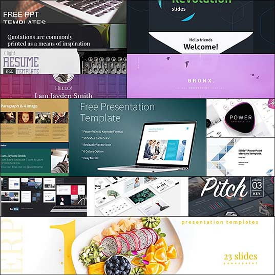 10 Free Powerpoint Templates for Creatives