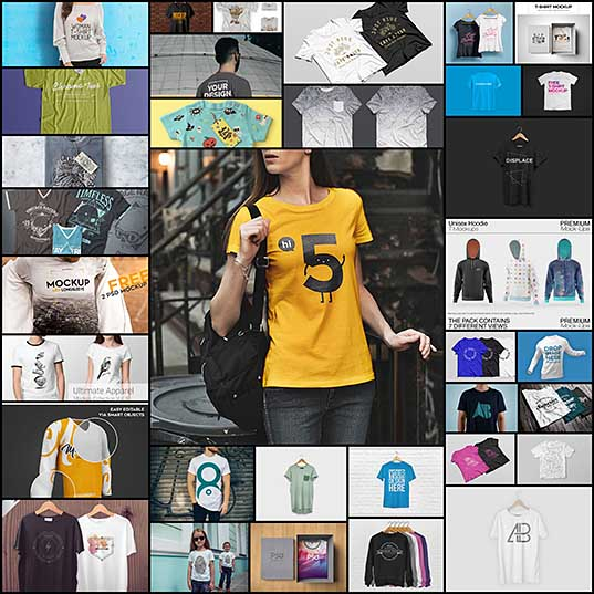 25+ Best Free Photoshop (PSD) T-Shirt Mockup Templates