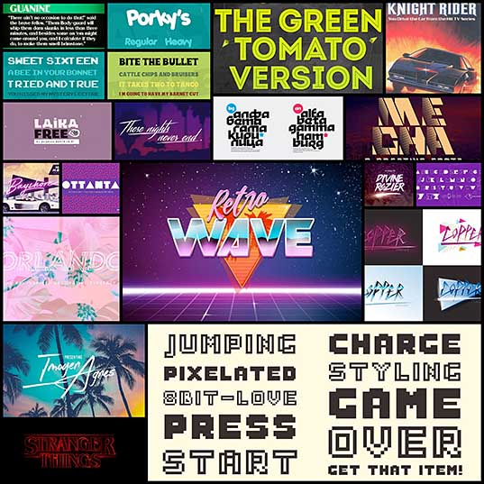 80s Fonts A Retro Typographic Trend (+ Examples) Design Shack