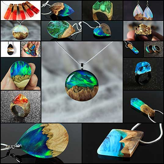 I Combine Wood With Opal And Resin To Create One-Of-A-Kind Handmade Jewelry Bored Panda1