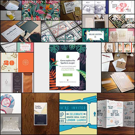 25+ Creative Event Invitations To Impress Your Guests - Web Design Ledger