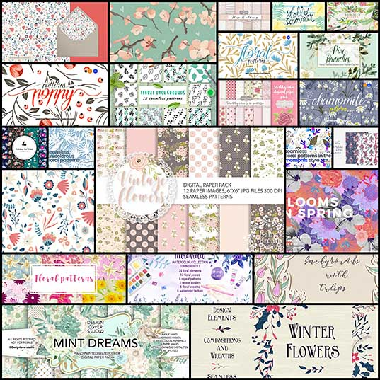 20+ Best Floral & Flower Background Textures Design Shack
