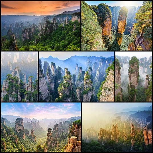 China's Incredible Stone Pillars Inspired 'Avatar' Scenery