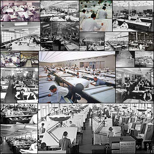 19 Amazing Vintage Photos That Show How People Worked Before AutoCAD Bored Panda