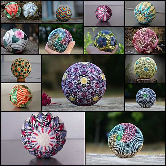 Crafter Creates Temari Balls Using Japanese Embroidery Techniques