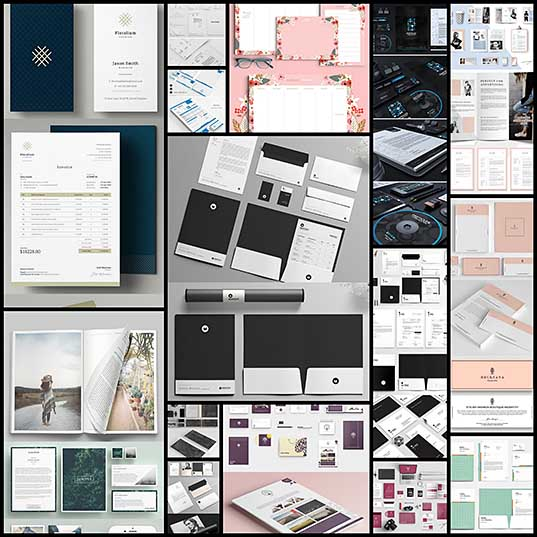15 Fresh & Creative Stationery Designs PSD Templates Design Blog