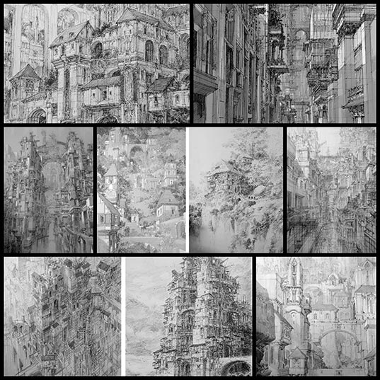 Infinite-Cities-Take-Shape-in-Imagined-Architectural-Drawings-by-JaeCheol-Park--Colossal