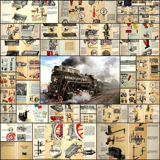 読めないけどカッコいい ソ連の蒸気機関車のイラスト付き運用マニュアル 141枚 いぬらぼ