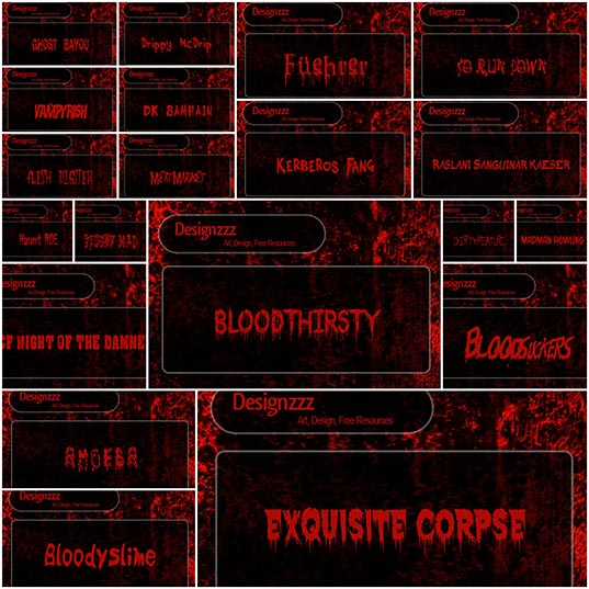30-Scary-Fonts-Free-Blood-Font-Set