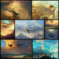 artist-paints-dreamlike-scenes-of-flying-whales8