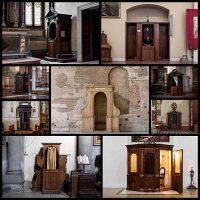 イタリアの教会でコンフェッショナル。 カメラマンマルチェラHakbardt