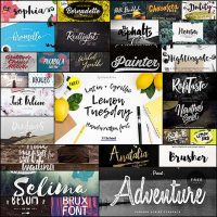 30 Paint Brush Fonts to Use in Your Designs for Spring and Summer