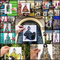 Paper Cut-Outs Use Surroundings to Create Fashion Illustration Collection