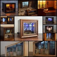 12 Model Maker Recreates Eerie Scenes in Miniature Within Shadow Boxes