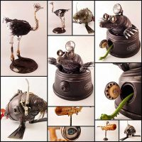 Steampunk Sculptures That I Create From Trash (Part 2) Bored Panda